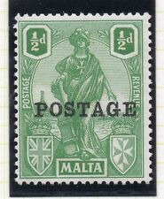 Malta 1926 Early Issue Fine Mint Hinged 1/2d. Optd Postage 043787