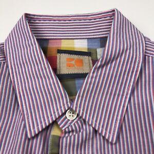 Hugo Boss Orange Large EUC Mens Button Front Long Sleeve Dress Shirt