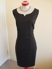 PORTMANS Dark Grey Charcoal DRESS Size 16 BNWT NEW Work RETRO Pencil Office