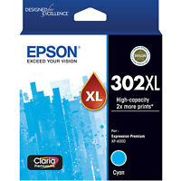 GENUINE Original Epson 302XL Cyan Ink Cartridge Toner Claria Premium T01Y292