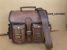 Men's Rugged Leather Distress Vintage Messenger Briefcase Laptop Computer Bag