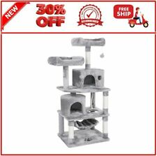 New listing Bewishome Cat Tree Condo Furniture Kitten Activity Tower Pet Kitty Play House Wi