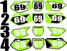 2006-2008 Kawasaki KX450f KX 450f KXF Number Plates Side Panels Graphics Decal