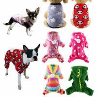 Fleece Cat Dog Clothes Winter Small Dogs Jumpsuit Hoodie Dog Pajamas Pet Vest