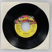 "CURTIS MAYFIELD : Show Me Love7"" 45 rpm PROMO (DJ stereo/mono) NOS CURTOM Soul"