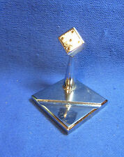 Mid Century 60´s German Chrome CUBE Paperweight Desk Decoration #Y1