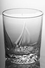 Flame 24% Lead Crystal Whisky Glasses, Set of 6