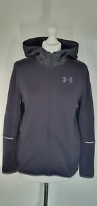A992 BOYS UNDER ARMOUR BLACK STRETCH SOFTSHELL TRACKSUIT JACKET HOODIE AGE 13-14