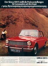 Simca-1301S-1971-Reklame-Werbung-genuine Advert-La publicité-nl-Versandhandel