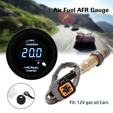52MM/2'' GAS OIL 12V Digital AIR FUEL RATIO GAUGE KIT WITH O2 Oxygen Sensor Kits