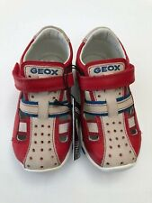 Geox Infant Boys Balu Grey /& Blue Leather Trainers Shoes Various Sizes BNIB