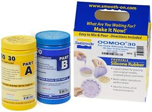 Smooth-On Silicone Mold Making, Liquid Rubber, OOMOO 30 -Trial Size 2.8 lb,so