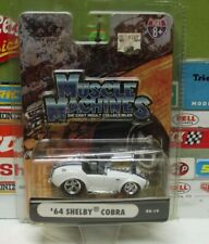 MUSCLE MACHINES 1:64 WHITE  '64 SHELBY COBRA, 05-19, #71152