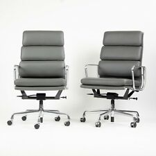 NEW 2017 Eames Herman Miller High Soft Pad Alu Desk Chairs 13x Graphite Leather