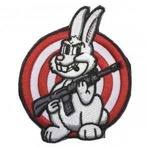 AR-15 Rifle Rabbit Bunny Patch Target Embroidered Moral Military Clothes Patches