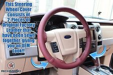 2010 2011 Ford F-150 King Ranch - Leather Steering Wheel Cover w/Needle & Thread