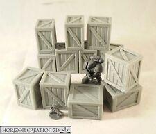HC3D - Crates 25x20x30mm - 12 Pack -Terrain & Scenery Fantasy