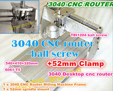 NEW CNC Router 3040 Machine Frame Engraving Milling Ball screw Kit & 52mm Clamp