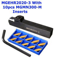 MGEHR2020-3 Lathe Grooving Parting Cutter Tool Holder &10x MGMN300 (3mm) Inserts
