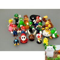 18pcs/Set Super Mario Bros Action Figures Kids Toy donkey  Figurines model dolls