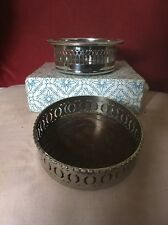 Silver Plated & Wooden Coasters,One By Cavalier With Box,The Other Larger
