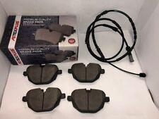Rear Brake Pads & Sensor Wire For BMW X3 X4 F25 F26  2011-2018