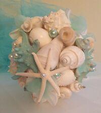XO Bouquets Bride 15 Inch Bouquet Sea Shells Bridesmaid