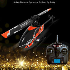 KE_ 4 Channel Single Propeller RC Aircraft Helicopter Micro Drone Kids Toy Gif