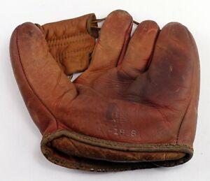 Vintage Simmons 25-1958 Leather Baseball Glove Mit