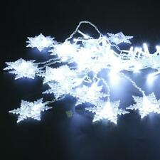 96 LED Snowflake Fairy String Curtain Window Light Christmas Wedding Party Decor