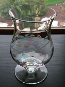 "Partylite JARDINIERE Hurricane Pastel Dot Glass 8 1/2""  Candle Holder Vase"