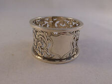 "Beautiful Cut Out Design English Sterling Chester 1901 Napkin Ring-1"" Wide"