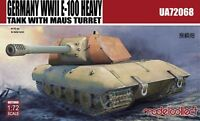 Modelcollect UA72068, Germany WWII E-100 Heavy Tank with Mouse turret, 1:72
