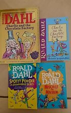 4 ronald dahl books Charlie and the Chocolate Factory spotty powder mischief And