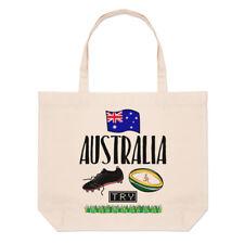 Rugby Australia Large Beach Tote Bag - Funny League Union Flag Shopper Shoulder