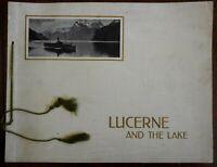 Lucerne Switzerland Travel souvenir c.1930 photogravures fine lovely view book