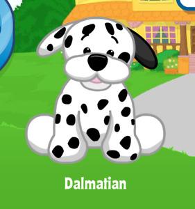 Webkinz Dalmatian Virtual PET Adoption Code Only Messaged Dog Webkinz Dalmatian!