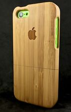 iPhone 5c Bamboo Wood Case Hand Crafted 100% Full Wood✔️ Luxury Protective Cover