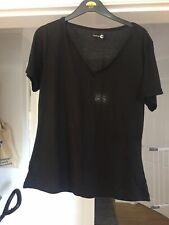 Black Maternity V Neck T Shirt Boohoo Size 18