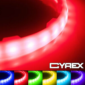 "2PC MULTI COLORED LED SPEAKER COLOR CHANGING LIGHT RINGS FITS 6.5"" SPEAKERS P1"