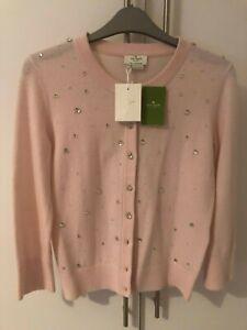 Gorgeous BNWT Kate Spade night sky wool cardigan pink blush NEW RRP £245