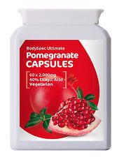 Pomegranate Extract, 60x 2,000mg Capsules - 40% Ellagic Acid - RRP: £11.95