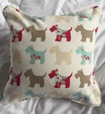100% Cotton Scotties Multi Dog Print Cushion Including Inner PAD- MADE IN UK