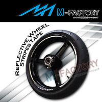 """Silver Reflective Rim 17"""" Wheel Decals Tape For Honda Yamaha Suzuki Kawasaki"""