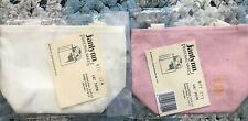 Two Janlynn  Lil' Tote Bags NIP 1 Pink, 1 Cream 100% Cotton