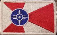 Wichita Kansas Flag Patch W/ VELCRO® Brand Fastener Tactical Morale Emblem #3