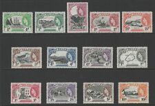 St Helena 1953 Complete set SG 153-165 Mnh.