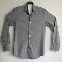 Men's WE Slim Fit Long Sleeve Black/Grey Shirt Size M 39