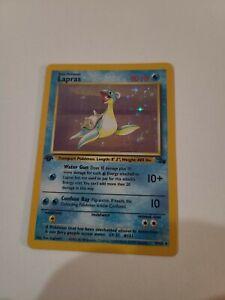 1999 Pokémon Fossil - 1st Edition Lapras - Holo 10/62 Rare, Near Mint Condition!