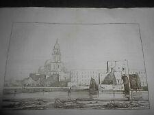1845 ACHILLE GIGANTE ACQUAFORTE  SAN GIOVANNI A TEDUCCIO NAPOLI FRANCESCO ALVINO